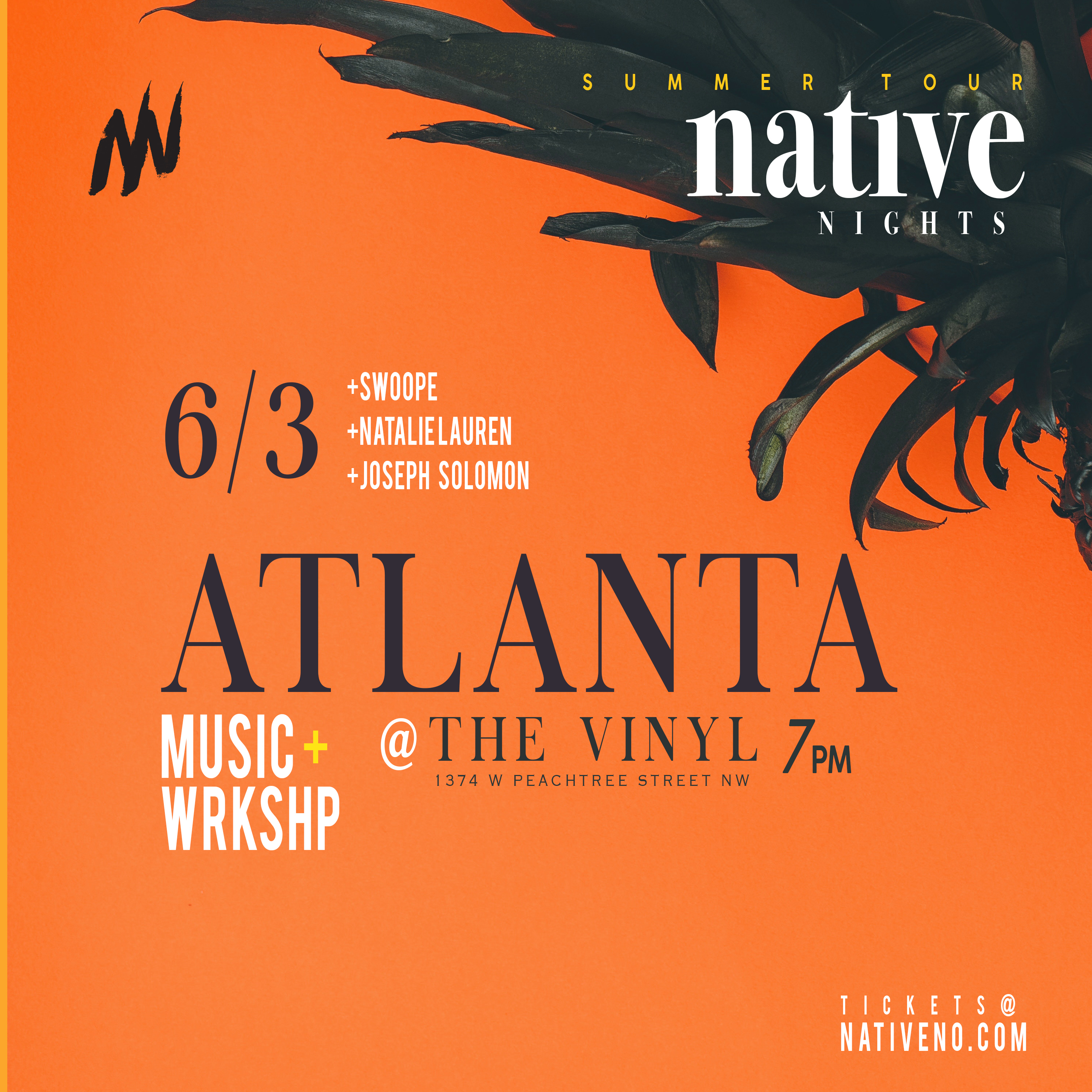Native Tour Atlanta Ticket Link